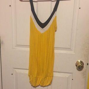 Long yellow Tank top